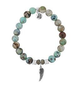 Tiffany Jazelle Core Collection Bracelet, Turquoise Jasper, Angel Wing