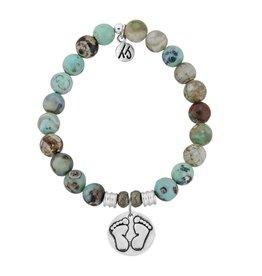 Tiffany Jazelle Core Collection Bracelet, Turquoise Jasper, Baby Feet