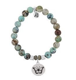 Tiffany Jazelle Core Collection Bracelet, Turquoise Jasper, Butterfly