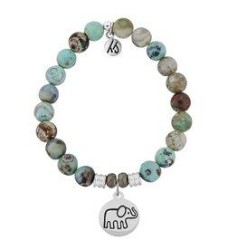 Tiffany Jazelle Core Collection Bracelet, Turquoise Jasper, Elephant