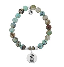 Tiffany Jazelle Core Collection Bracelet, Turquoise Jasper, Pineapple