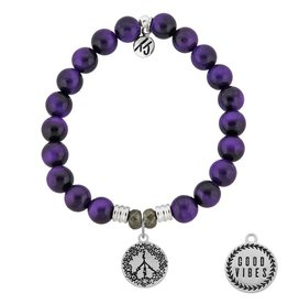 Tiffany Jazelle Core Collection Bracelet, Purple Tiger's Eye, Peace - Good Vibes