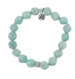 Tiffany Jazelle Signature Stacker 8mm Bracelet, Amazonite - Nugget Cut Stones