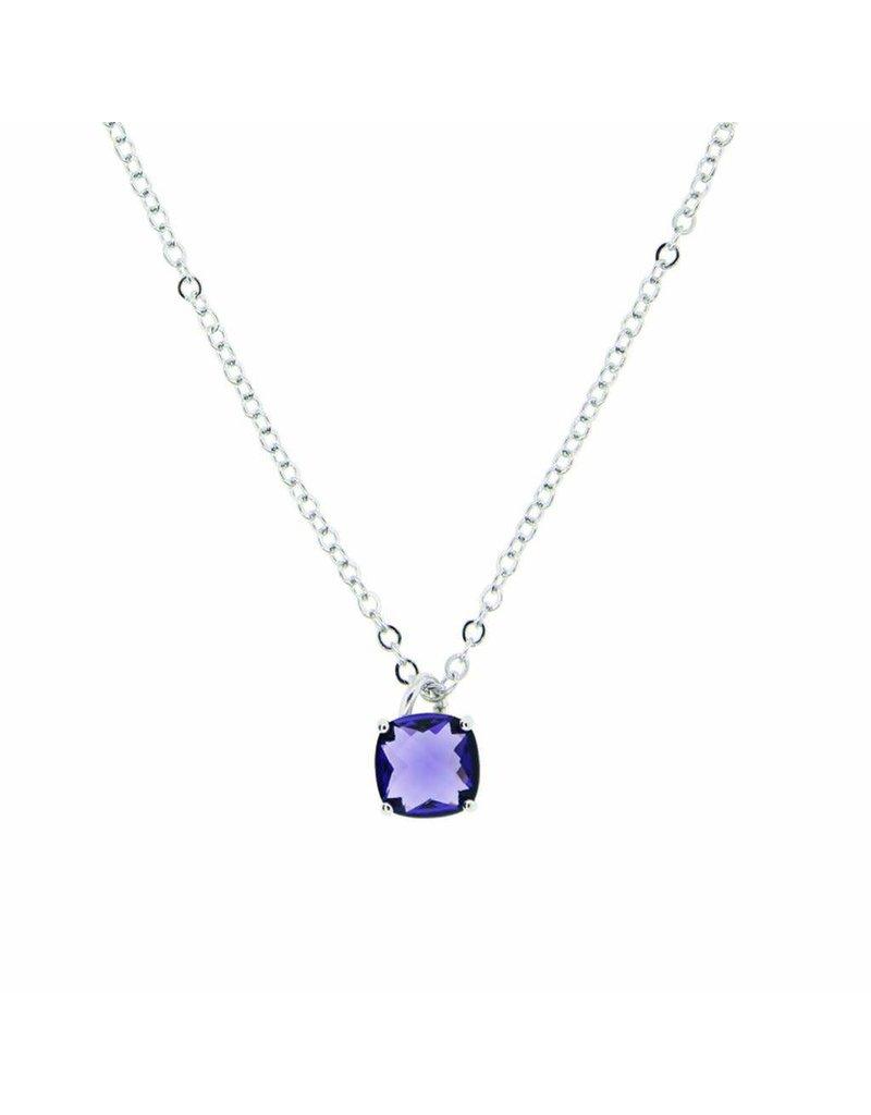 Tiffany Jazelle Adorn Necklace 16''-18'', Amethyst