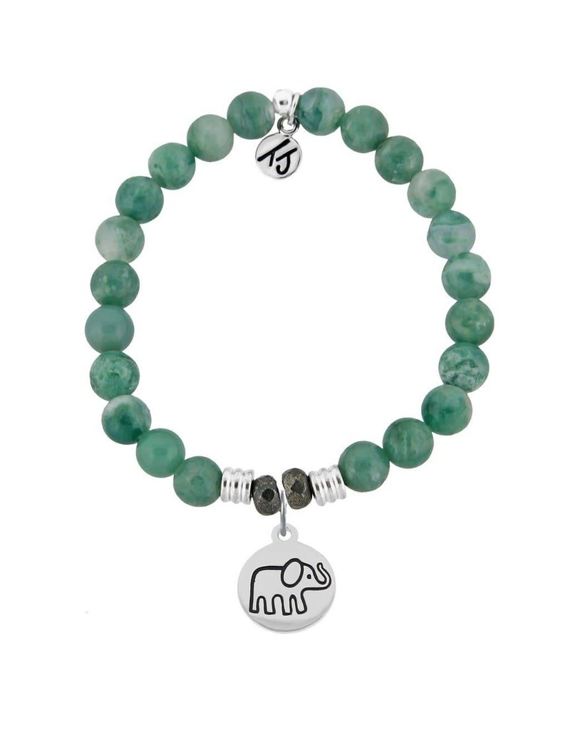 Tiffany Jazelle Collection Bracelet, Green Jade, Elephant