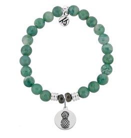 Tiffany Jazelle Collection Bracelet, Green Jade, Pineapple