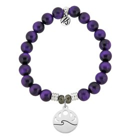 Tiffany Jazelle Core Collection Bracelet, Purple Tiger's Eye, Moon Phases