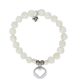 Tiffany Jazelle Core Collection Bracelet, Moonstone, Hollow Heart