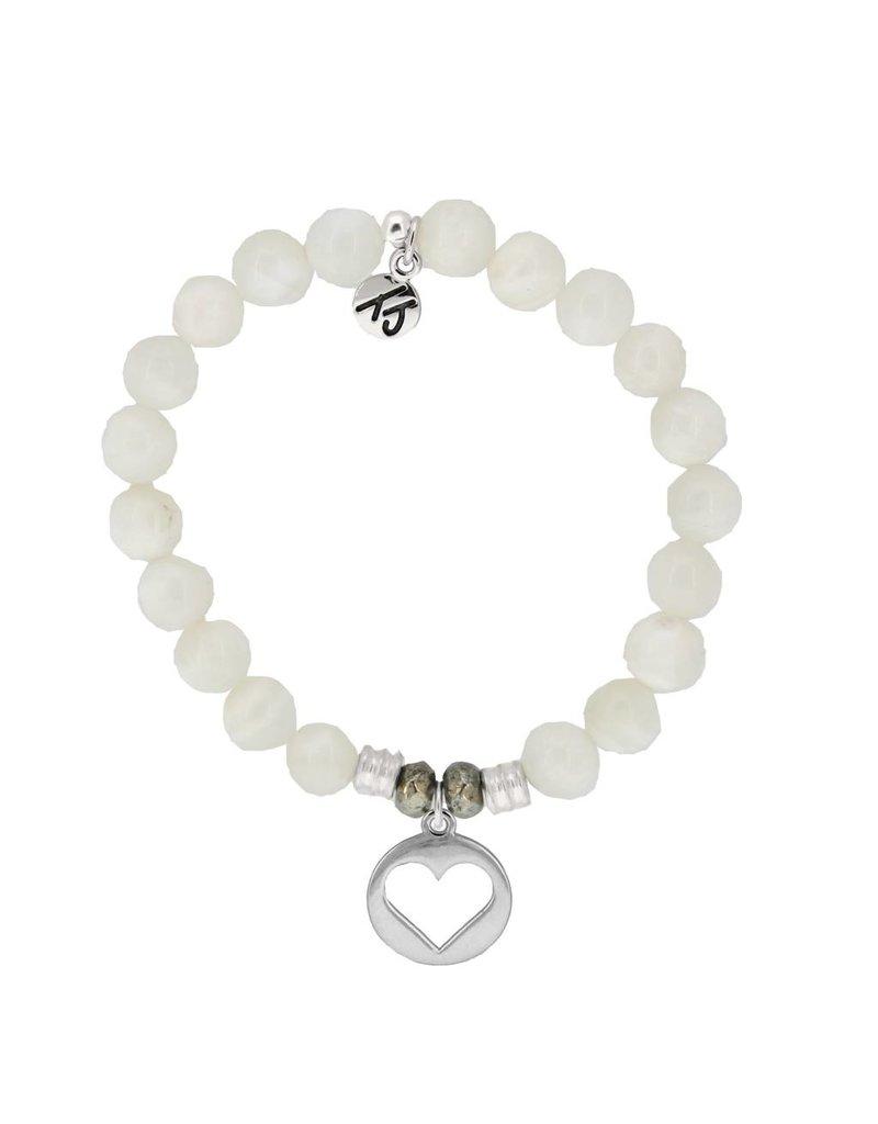 Tiffany Jazelle Core Collection Bracelet, Moonstone, Hollow Heart