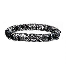"INOX Ornate Steel Bracelet, 8.5"""