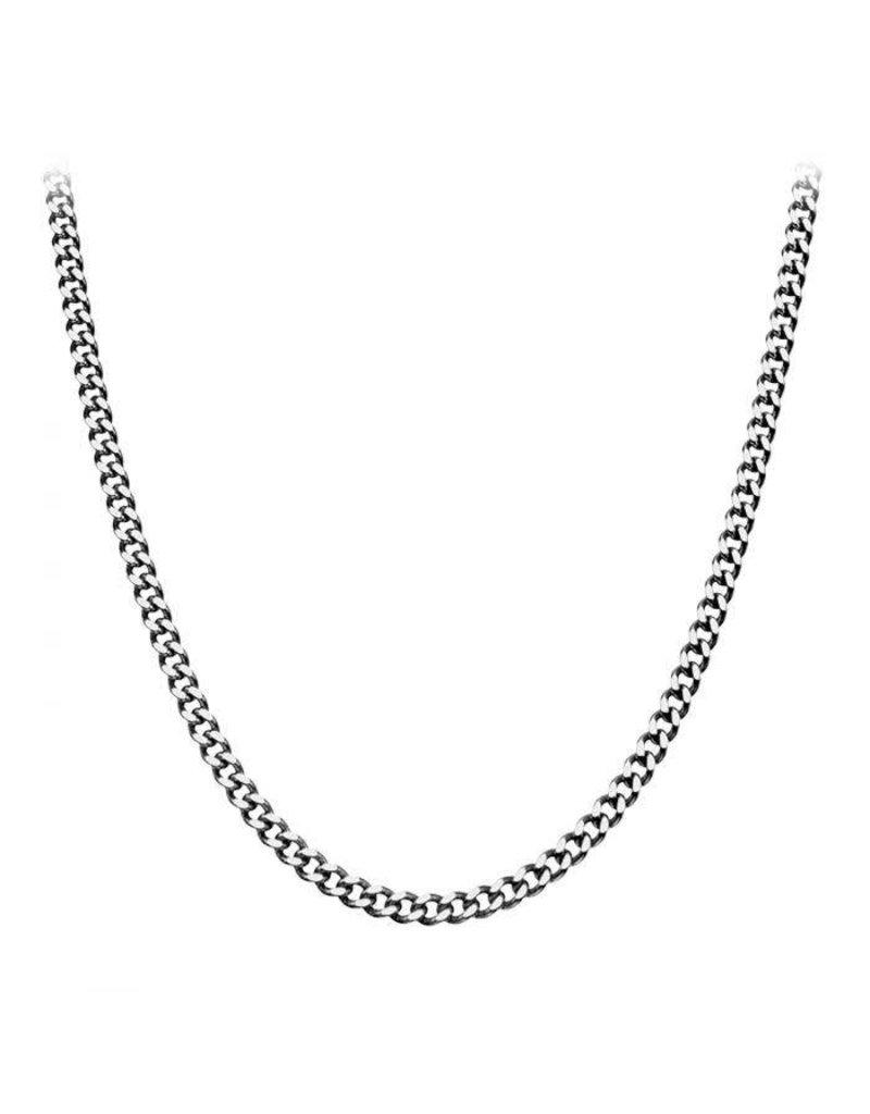 "INOX 5mm Diamond Cut Chain, 22"""