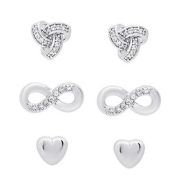 Lily Nily Love, Love, Love- CZ stud set