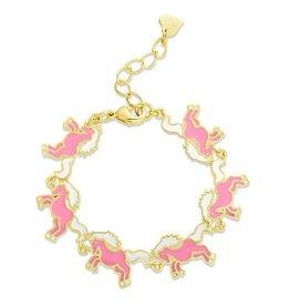Lily Nily Unicorn Link Bracelet, Pink