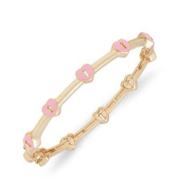 Lily Nily Heart Lock Bangle - Pink