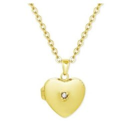 Lily Nily Heart Locket in 18k Gold over Sterling Silver