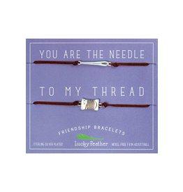 Lucky Feather Needle to my Thread Bracelet Set