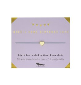 Lucky Feather Here's Some Birthday Love Bracelet