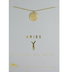 Lucky Feather Aries - Gold Necklace