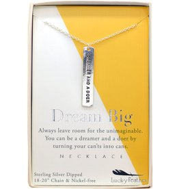 Lucky Feather Strong and Sassy - Boxed - Silver Necklace - Dreamer