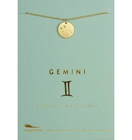Lucky Feather Gemini - Gold Necklace