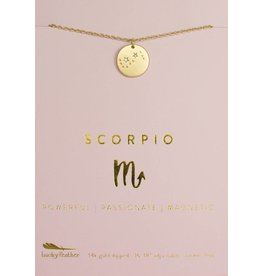 Lucky Feather Scorpio - Gold Necklace