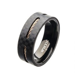 INOX Black Carbon Fiber and Copper Cable Ring