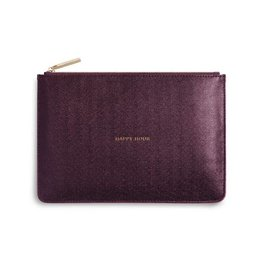 Katie Loxton Perfect Pouch - Happy Hour - Shiny Burgandy