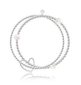 Katie Loxton Lila Bracelet - White Pearl