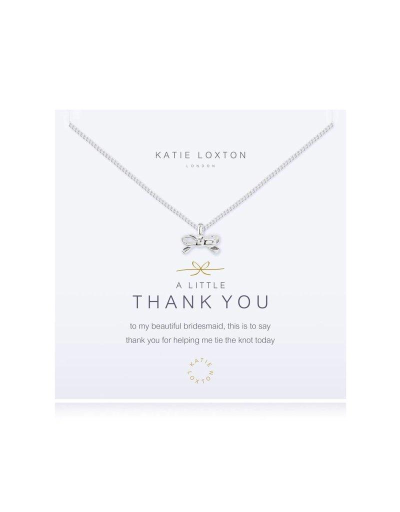 Katie Loxton a little THANK YOU Bridesmaid - necklace