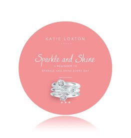 Katie Loxton Sparkle and Shine Adjustable Ring Set