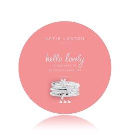 Katie Loxton Hello Lovely Adjustable Ring Set