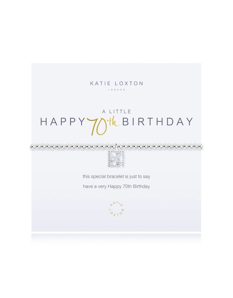 Katie Loxton a little - HAPPY 70TH BIRTHDAY - bracelet