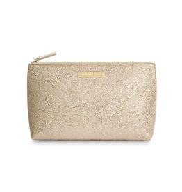 Katie Loxton Mia Makeup Bag - Metallic Gold