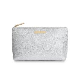 Katie Loxton Mia Makeup Bag - Metallic Silver