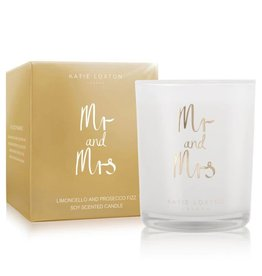Katie Loxton METALLIC CANDLE - MR AND MRS - limoncello and prosecco fizz - 160gr