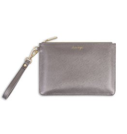 Katie Loxton Secret message Pouch - Shine Bright/Star - Metallic Charcoal