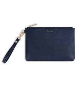 Katie Loxton Secret message Pouch - Free spirit/Oyster - Navy