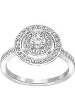 Swarovski Attract Light Ring, White, Rhodium Plating