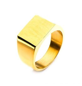INOX Gold Square Ring