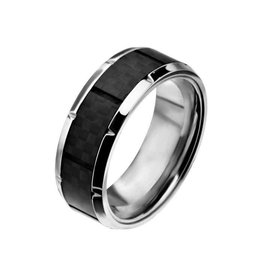 INOX Ridged Edge with Center Solid Carbon Fiber Ring