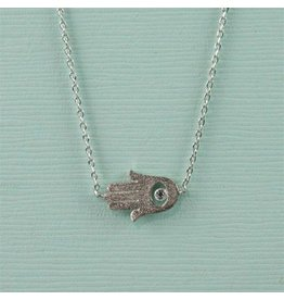 Cool and Interesting Silver Plated Hamsa Hand Necklace