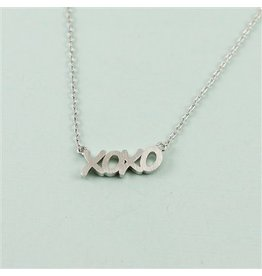 Cool and Interesting XOXO Necklace, Silver