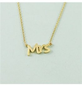 Cool and Interesting Gold Mrs. Necklace