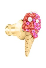 Swarovski No Regrets Asymmetrical Ice Cream 3 Piece Post Earrings