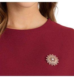 Swarovski Sunshine Brooch, White, Rose Gold Plating