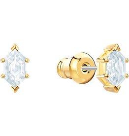 Swarovski Oz Stud Earring, White, Gold Plating