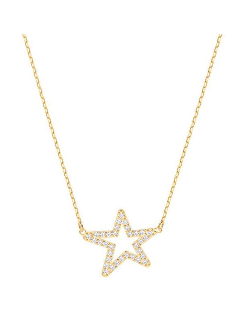 Swarovski Only Necklace, White, Gold Plating