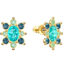 Swarovski Lucky Goddess Earrings, Studs, Multi-Colored, Gold Plating