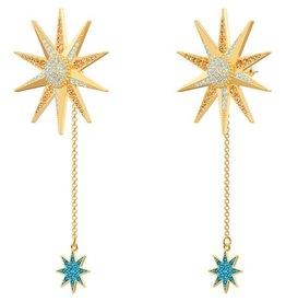 Swarovski Lucky Goddess Earrings, Multi-Colored, Gold Plating
