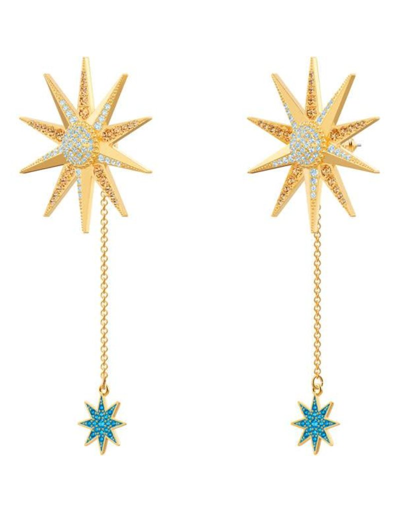 Swarovski Lucky Goddess Earrings, Multi-Colored, Gold Plating